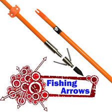 Archery Bowfishing Arrows Fish Hunting 32 inch Fiberglass Shaft Safe Slide 6X
