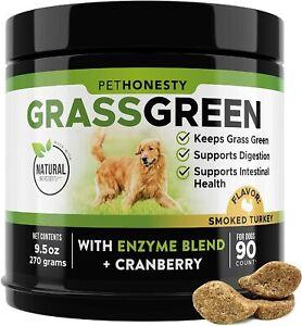 PetHonesty GrassGreen Grass Burn Spot Dog Chews / Pee Lawn Spot Saver / 90 Chews