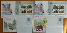 First Day Covers - 4 No. - 1st Min Sheet and 10 1/2p Stamp - 1/3/78 & 26/4/78