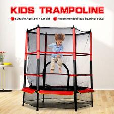 Kinder Trampolin FitnessTrampoline Sicherheitsnetz Rundtrampolin Indoo
