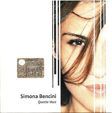SIMONA BENCINI CD SINGLE PROMO 1 tr. QUESTA VOCE 2005 Stefano Bollani PACIFICO