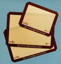 Set of 3 MIU Nonstick Silicone Baking Liners Cookie Oven Reusable Parchment NIB