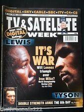 TV & SATELLITE WEEK - LENNOX LEWIS v MIKE TYSON - 8 JUNE 2002
