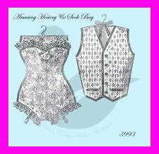 Reproduction Amusing Corset & Vest Hosiery Bag Sewing Pattern 5993