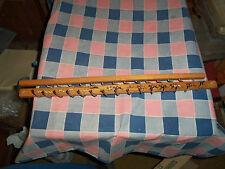 """Old Wood Metal Tie Rack Organizer Hunting Motif Horses Dogs 17 7/8"""" Long"""