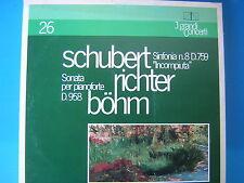 LP SCHUBERT KARL BOHM SINFONIA n°8 D 759 LIVE+SVIATOSLAV RICHTER SONATA D.958