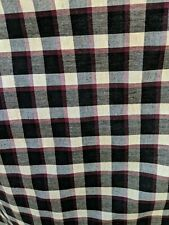 Red and Black Buffalo Plaid Check Fabric 5 yds. X 55 inches wide. Nice fabric!