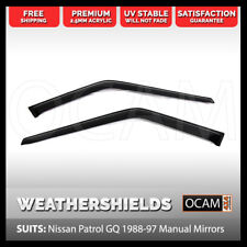 OCAM Weathershields for Nissan Patrol GQ Manual Mirrors 1988-97 UTE 2pc Visors