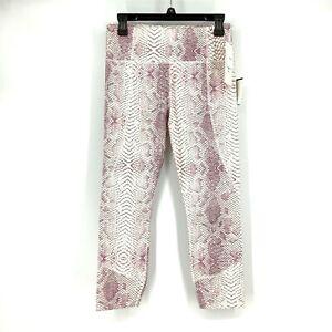 Varley Women Medium M Kensington Legging Tight Mid-Rise Snakeskin Print NEW