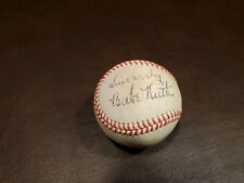"Babe Ruth ( Inscribed ""Sincerely"" ) Red Stitched Autographed Baseball Reprint"