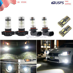 6x White LED Fog Light Driving DRL Bulbs Kit For 2007-2014 Cadillac Escalade
