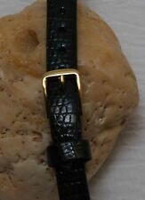 Bulova Accutron Genuine Lizard  Watch Strap Black NOS 10mm