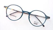 Markengestell Panto Glasses Plastic Lightweight Teal Unisex Nasenstege Chai