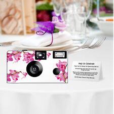 5 Spring Orchid Disposable Cameras Fun Cameras, Fuji film