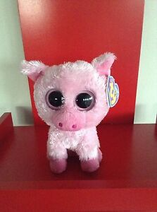 Ty Beanie Boos Corky the Pig. 6 inch NWMT. Retired and hard to find.