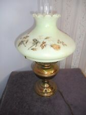 Vtg Aladdin Model 11 Desk/Table Lamp w/Burmese Green Shade & Chimney(electric)