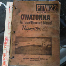 Vintage Awatonna Haymaster 22 Operators Manual owners guide  original haybine