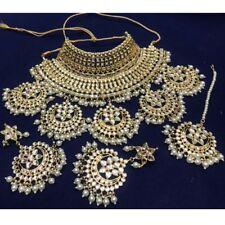 Meena Kundan Gold Plated Indian Bridal Wedding Style Women Necklace Jewelry Sets