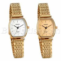 Women's Charm Simple Square Dial Stainless Steel Quartz Analog Wrist Watch Gift