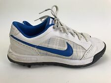 Nike Air Anthem Golf Shoes 7.5 White Blue Water Resistant Soft Spikes 379212