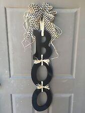 BOO Door Hanger, Halloween Sign, Halloween Door Sign, Holiday Door Hanger