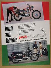 1968 Ducati 350 SS & Sebring motorcycles color photo vintage print Ad