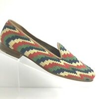 Stubbs /& Wootton Size 8 Shoes Needlepoint Loafers Multicolor Southwest Pattern