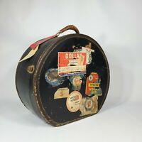 Antique Hat Suitcase SS Coolidge Dollar Steamship San Francisco Luggage Vintage