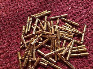 50pcs Positronics FC114N2/AA Crimp Female Contacts Size 16  Gold Plate