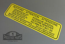 Engine bay restoration sticker for 924 924S 924 Turbo - Silicon Remover decal