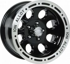 """NEW 15 X 8"""" Ion 174 Black Alloy Wheel For JEEP WRANGLER TJ YJ 5 On 4.5"""