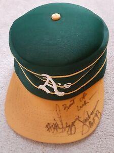 Reggie Jackson signed/autographed Oakland A's throwback cap hat inscribed HOF 93