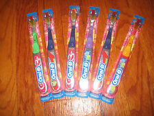 LOT OF 6 Oral-B Stages Toothbrush for older children Soft  Pre teen Ages  8-12