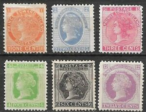 Canada Prince Edward Island lot of 6 Queen Victoria not used see scans