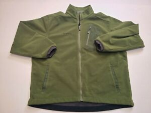 Simms Windstopper Fleece Shell Material Jacket Size XL Green
