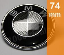 BMW Emblem Motorhaube Wappen Heckklappe 1er 3er 5er 6er 7er Carbon 74mm Schwarz