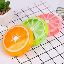 Pill Box 7 Week Days Lemon Orange Design Holder Storage Case Vitamins Box Sorter