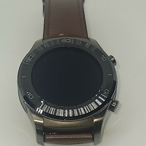 Huawei - Watch 2 Classic Smartwatch 45mm Titanium Gray/Brown leather bands
