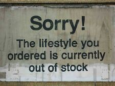 "Sorry The Lifestyle You Ordered.., Graffiti Art by Banksy, 8""x10.5"" Canvas Print"