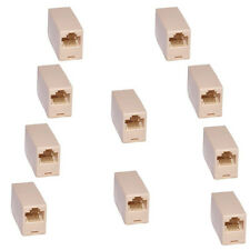 10 Pcs RJ45 CAT5 Network Cable Connector Adapter Extender Plug Coupler Joiner US