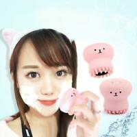 Pink Silicone Octopus Shaped Facial Cleansing Brush Face Cleanser Skin Care
