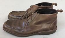 Johnston Murphy Sheepskin Leather Moccasin Split Toe Ankle Chukka Boots 8.5 M