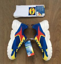 LIDL LIMITED EDITION MENS TRAINERS SNEAKERS UK 11 EU 45 + PAIR OF LIDL SOCKS