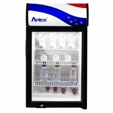 Small Countertop Glass 1 Door Refrigerator Merchandiser Display Case 3 Cu Ft Nsf