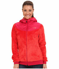 New Women's The North Face Oso Hooded Fleece Jacket Pink Medium