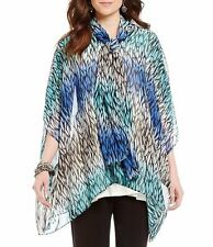 76fdc09eca3aa Nwt IC Collection Connie K Oversized Chiffon Scarf Tie Poncho Cardigan Top  3X