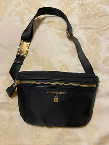 Michael Kors Waist Fanny Pack Black Nylon