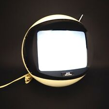 JVC Videosphere Atomic 1970's White Space Helmet Retro TV - PARTS OR REPAIR