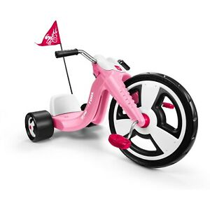 "Chopper Tricycle Girl Kids Trike Big Radio Flyer Sport 16"" Front Wheel, Pink NEW"