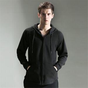 Mens Fitness Hoodie Sweater Workout Casual Zipper Coat Fashion Sweatshirt